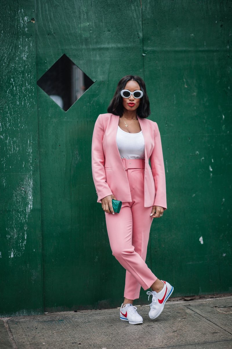 How To Style A Pink Suit Torontoshay